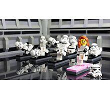 Stormtrooper Yoga Photographic Print