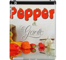 Peppers and garlic. iPad Case/Skin