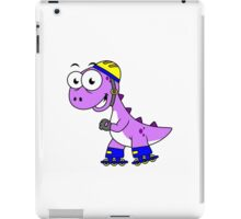 Illustration of a skating Tyrannosaurus Rex. iPad Case/Skin