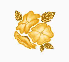 Golden Flowers Pattern Unisex T-Shirt