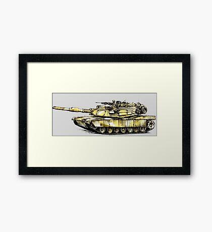 M1 Abrams Main Battle Tank Framed Print