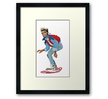 Back to the zuture Framed Print