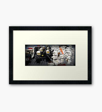 Stormtrooper Riots Framed Print