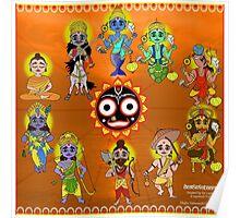 Dashavatara - 10 forms of Vishnu Poster