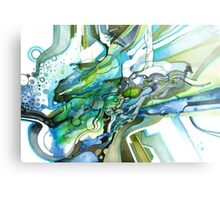 Approaching Eleven Percent From Behind  - Watercolor Painting Metal Print