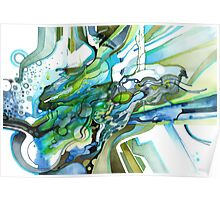 Approaching Eleven Percent From Behind  - Watercolor Painting Poster