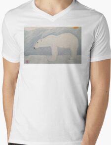 Polar Bear on Ice Mens V-Neck T-Shirt