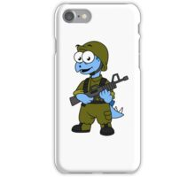 Illustration of a Stegosaurus soldier. iPhone Case/Skin