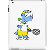 Illustration of a Tyrannosaurus Rex tennis player. iPad Case/Skin
