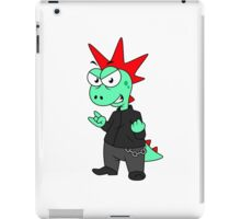 Illustration of a Tyrannosaurus Rex dressed as a punk. iPad Case/Skin