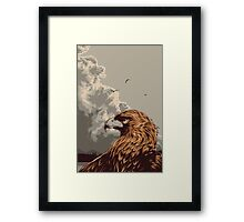 Eagle Eye In The Big Smoke Framed Print