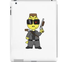 Illustration of Tyrannosaurus Rex dressed as the Terminator. iPad Case/Skin