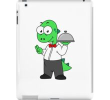 Illustration of a Tyrannosaurus Rex food waiter. iPad Case/Skin