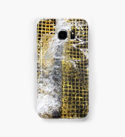 Yellow Water Surge Samsung Galaxy Case/Skin