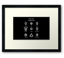 Thieves Guild Symbols/Know Your Symbols Framed Print