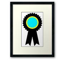 competitive ribbon Framed Print