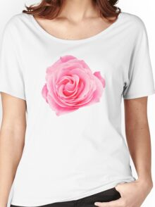 Pink Rose Swirly Petals Women's Relaxed Fit T-Shirt