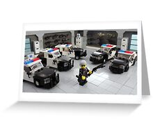 "Custom LAPD ""LEGO"" Minifigure and Cars Greeting Card"