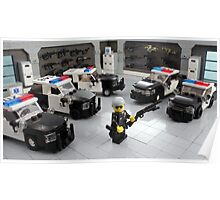 "Custom LAPD ""LEGO"" Minifigure and Cars Poster"