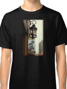 Downtown Detroit Light Fixture With Muhammad Ali Billboard  Classic T-Shirt