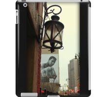 Downtown Detroit Light Fixture With Muhammad Ali Billboard  iPad Case/Skin