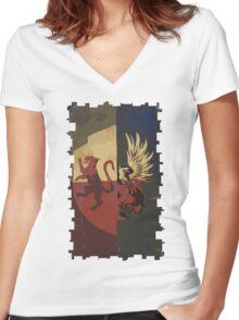 Hero of Fereldan Tarot Card Women's Fitted V-Neck T-Shirt