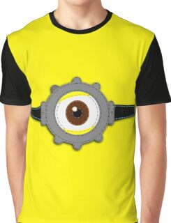 Minion Goggles Patch Graphic T-Shirt