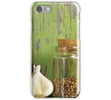 A still life of jars with peppers. iPhone Case/Skin