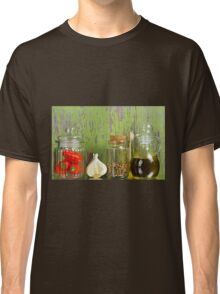 A still life of jars with peppers. Classic T-Shirt