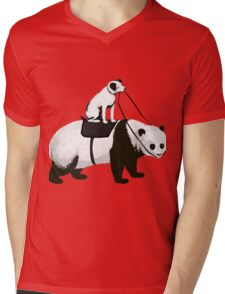 Funny Panda Express Mens V-Neck T-Shirt