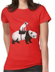 Funny Panda Express Womens Fitted T-Shirt