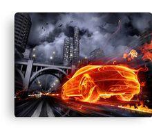 Fire Car Canvas Print