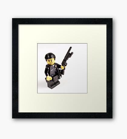 LAPD Patrol Officer - Custom LEGO Minifigure Framed Print