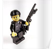 LAPD Patrol Officer - Custom LEGO Minifigure Poster