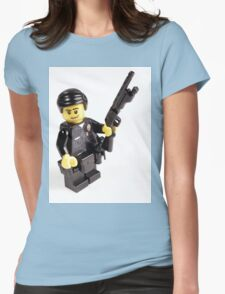 LAPD Patrol Officer - Custom LEGO Minifigure Womens Fitted T-Shirt