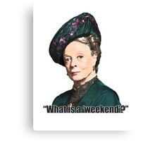 The Dowager Countess Canvas Print
