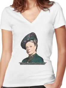 The Dowager Countess Women's Fitted V-Neck T-Shirt