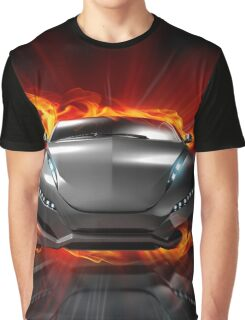 Font Fire Graphic T-Shirt