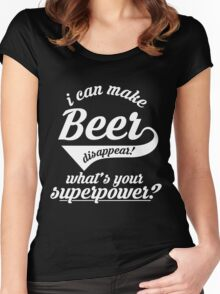 I can make BEER disappear! - version 3 - white Women's Fitted Scoop T-Shirt