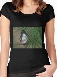 Imperial Blue Butterfly Dec 2015 Women's Fitted Scoop T-Shirt