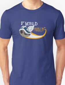 1st World Problems Orange Unisex T-Shirt