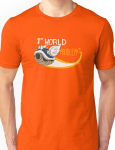 1st World Problems Orange Unisex T-Shirt
