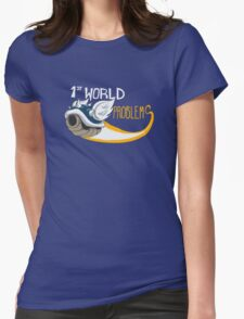 1st World Problems Orange Womens Fitted T-Shirt