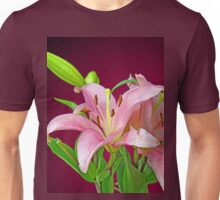 Two pink Lilies Unisex T-Shirt