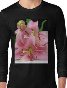 Two Lilies close up Long Sleeve T-Shirt