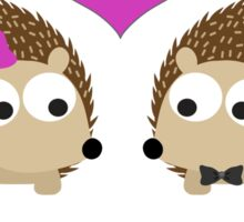 Hedgehugs and Kisses Hedgehogs in Love Sticker