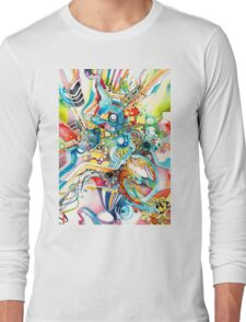 Unlimited Curiosity - Watercolor and Felt Pen Long Sleeve T-Shirt