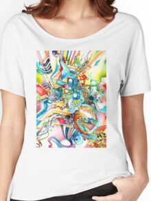 Unlimited Curiosity - Watercolor and Felt Pen Women's Relaxed Fit T-Shirt