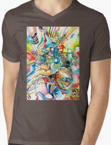 Unlimited Curiosity - Watercolor and Felt Pen Mens V-Neck T-Shirt