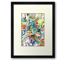 Unlimited Curiosity - Watercolor and Felt Pen Framed Print